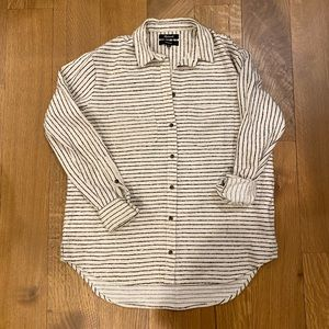 Madewell long sleeve button up flannel